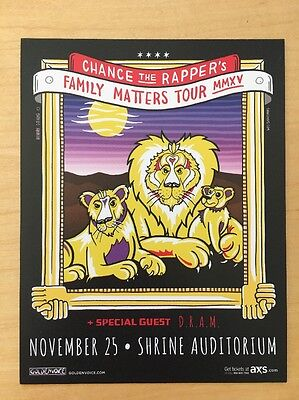 Chance The Rapper Nov 25 15 Shrine Hall Los Angeles Handbill