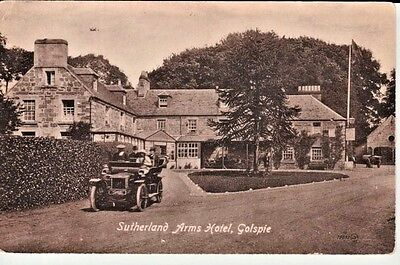Early GOLSPIE Sutherland Arms Hotel - people in vintage car, Valentine's Series