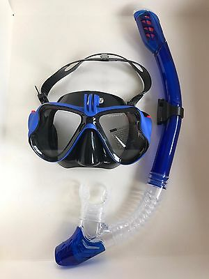 Scuba Diving Professional Mask And Snorkel With Go Pro Attachment + Case