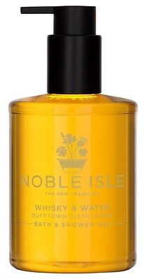 Noble Isle Whisky & Water Shower Gel (250ml) NEW - & A Free Molton Brown 30ml