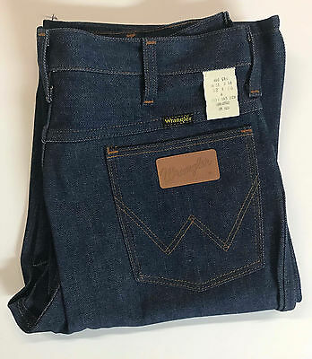 Men's Vintage 70s No Fault Wrangler Jeans Sz 32x36 Bell Bottom Disco Dead Stock
