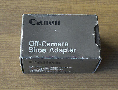 Neuf! Canon Off Camera Shoe Adapter Griffe Porte-Flash !