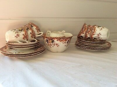 Weir China Tea Set, 6 side plates, 6 cups and saucers, cream jug, sugar bowl