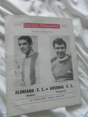 1969 Floriana Malta V Arsenal Piccadilly Tour