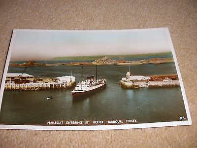 Jersey - Mailboat Entering St Helier Harbour 1954