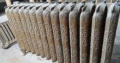 1800's Mansion Cast Iron Ornate Steam Radiator 14Fin Architectural Salvage