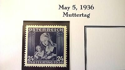 1936 - Austria `Mothers` issue  - Lovely condition