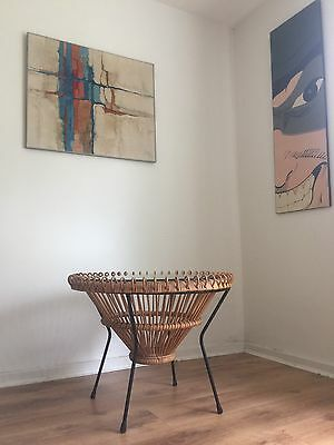 Vintage Mid Century Franco Albini 50's Rattan Coffee Table