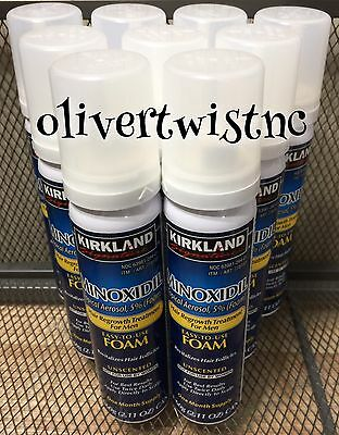 Mens KIRKLAND Compare To Rogaine 5% Topical Foam 9 Month Supply 9 Cans AUG 2020