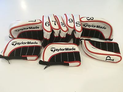 10 new taylormade pu leather golf club iron head covers headcovers superior