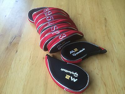 10 Taylormade M2 Red and Black GOLF CLUB Iron Covers head covers