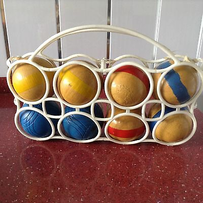 Vintage Wooden Printemps Boules Croquet Outdoor Game (no target ball)