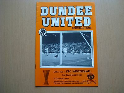 Dundee United V Kfc Winterslag Dec 1981