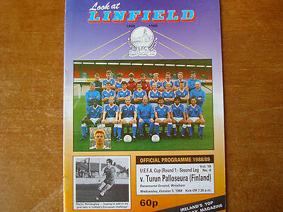 LINFIELD V TURUN PALLOSEURA OCT 1988 @ Wrexham