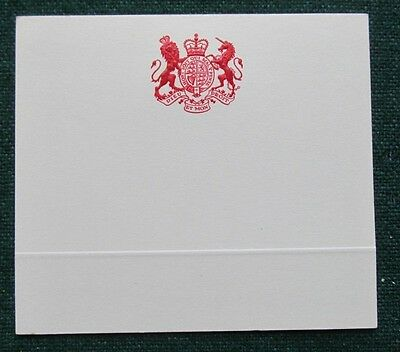 Unusual Place Setting Antique Embossed Red Royal Coat of Arms for King George V