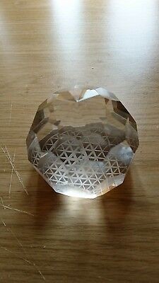 Vintage Art Glass : Tiffany &  Co multi facet Paperweight