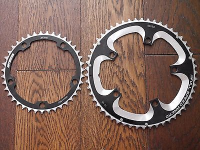 FSA Super Road Chainrings 53t / 39t  - 10/11 Speed - Road Bike 53/39 5 bolt