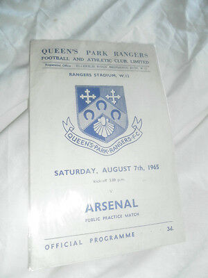 1965 Friendly Qpr V Arsenal