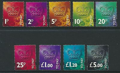 GB GREAT BRITAIN 1994 sg d102-d110 3rd decimal POSTAGE DUES U'M/MINT SET