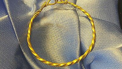 Beautiful  Ancient viking pure solid Gold  bracelet with spiral  coiled ends