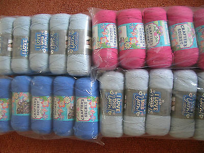 "Knitting Yarn ""Assorted colours"" 20 balls x 200grms New & Banded"