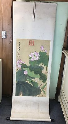 Magnificent Antiques Chinese Scroll Paintings Flowers