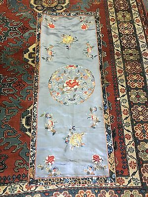 Wonderful Antiques Chinese Embroidered Panels 18 In X 47 In