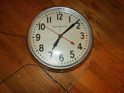 Vintage General Electric Wall Clock-Usa Made-Not Working-Plug In,large Numbers