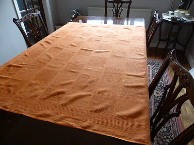 Striking orange linen rectangular table cloth