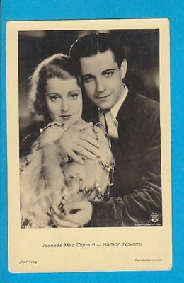 JEANETTE MAC DONALD+RAMON NOVARRO  original vintage Ross photo-postcard