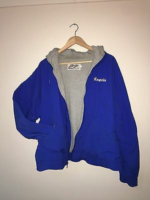 Vintage Parachute Jacket Royal Blue Unisex Medium