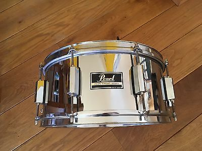 """80s PEARL 14"""" EXPORT SNARE DRUM in CHROME"""
