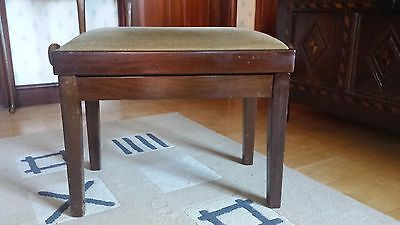 Vintage wooden adjustable piano stool