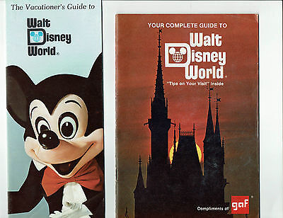 Walt Disney World, Fl., lot vintage brochures, guide books, 1970's-1980's era
