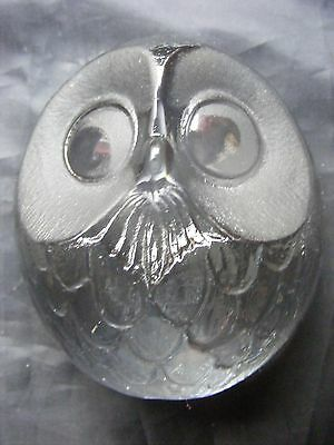 Mats Jonasson Signed Swedish Art Glass Owl Paperweight Excellent Condition