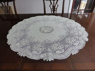 Pretty cream oval lace table cloth