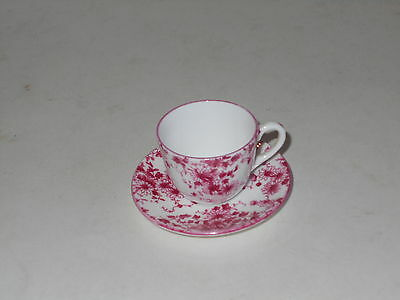 Antique Rare Shelley Dainty Pink Miniature Cup & Saucer Made 1930 Era