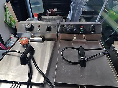 catering equipment falcon griddle, deep fat fryer chip warmer and water urn