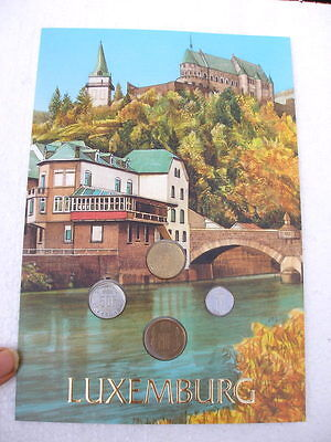 Large Luxembourg 4 Coin Presentation Folder Mixed Dates