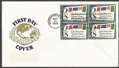 Us Fdc 1966 Sixth International Philatelic Exhibition Washington Dc 5C Van Dahl