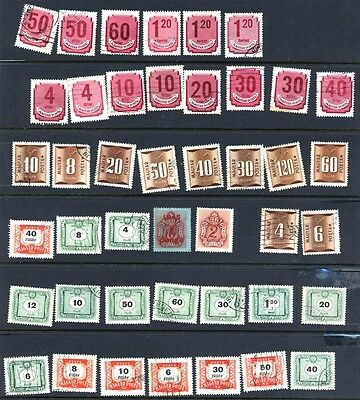 43 Postage Due Stamps from Hungary
