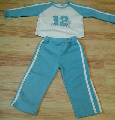 New Baby Girls  BROOKS FITCH Casual Blue tracksuit  2piece set- 24Mth