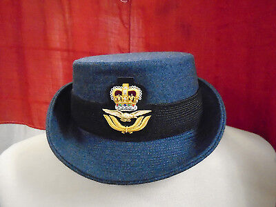 Raf Womans Officer Hat With Badge Size 56Cm Genuine Raf Issue