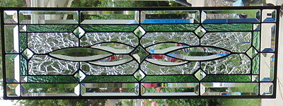Stained Glass window hanging 28 1/4 X 9 1/2""