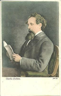 Charles Dickens, Author (Colour Printed Postcard) 1904
