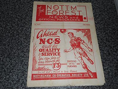 NOTTINGHAM FOREST  v  COVENTRY CITY  1946/7  ~ SEPTEMBER 28 VINTAGE  *FREE POST*