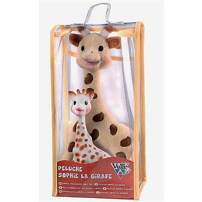 Sophie the Giraffe Set with Soft Toy & 100% Natural Rubber Teether