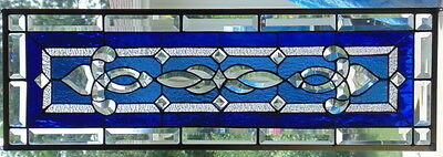 Stained Glass window hanging 34 1/2 X 11 1/4""