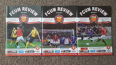 2016/17 FC UNITED OF MANCHESTER HOME PROGRAMMES x 3