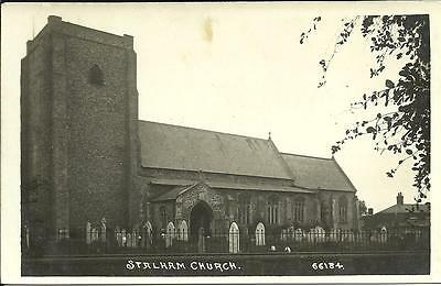 STALHAM CURCH, NORFOLK (REAL PHOTOGRAPHIC POSTCARD) c1910